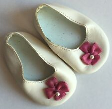 AMERICAN GIRL Doll REPLACEMENT White Shoes Pink Bow MEET FELICITY Elizabeth