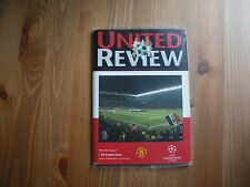 Football Programmes Man Utd V Sturm Graz European Champions League 2000/01