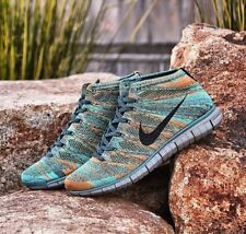 NIKE FREE FLYKNIT CHUKKA.. MINERAL TEAL.. SIZE 11.. VERY RARE.. UK and JAPAN EDI