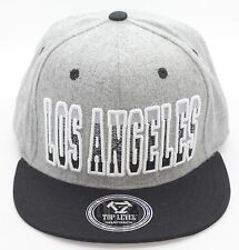 LOS ANGELES CITY EMBROIDERY HIGH QUALITY SNAPBACK CAP HAT WOOL COTTON ADJUSTABLE