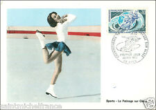 1971 POSTCARD CARTE POSTALE PATINAGE ARTISTIQUE GLACE Figure skating ice dancing