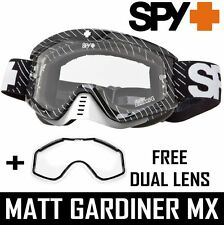 Spy Optics Tucker Hibbert Whip Motocross Gafas + Snowcross Doble ventilados Lens