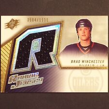 BRAD WINCHESTER - RC Ser 504/1999 - 2005/06 SPx #152  Edmonton Oilers Rookie