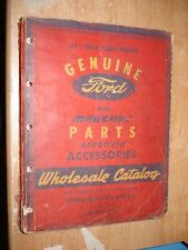 1938-1946 FORD AND MERCURY PARTS CATALOG CAR & TRUCK ORIGINAL BOOK WOW