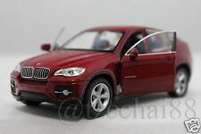 Welly 1/34-1/39 BMW X6 Maroon Red Car Collectable Toy Christmas Gift Diecast