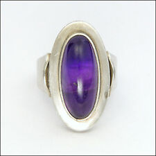 Danish N.E. FROM Modernist Silver and Amethyst Ring