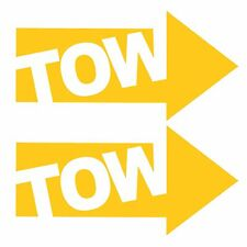 2 x JDM YELLOW TOW ARROWS - Race / Rally Car Decals / Stickers