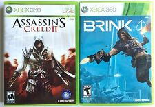 XBOX 360 ~ 2 GAMES SHOOTERS LOT ~ ASSASSIN'S CREED II & BRINK GAMES