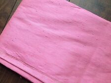 "STUNNING CHINESE OR THAI RAW SILK  PINK FABRIC 40"" W X 4 YDS + 8"""