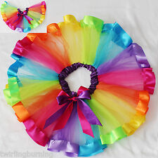 Girls Rainbow Tutu Skirt 1-8 Year Old Dressup Party Ballet Dancing Costume CS05