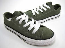 Converse Chuck Taylor All Star Specialty Ox Sneaker Olive Suede Kid's US Sz 13 M