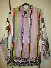 FABULOUS MENS VINTAGE GIANNI VERSACE MULTI COLOR PRINT SILK SHIRT 52 XL XXL LQQK