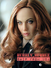 "1/6 Angelina Jolie Mrs Smith Head Sculpt For 12"" Hot Toys Phicen  SHIP FROM USA"