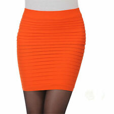 Sexy Women Pleated Seamless Stretch Tight Bodycon Mini Skirt Short Pencil Dress