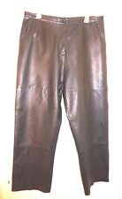 Size 16 Style & co. Collection Lined Black Leather Pants (34W x 28 Inseam)