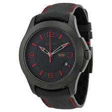 Gucci G Timeless Black Dial and Techno Leather Strap Mens Watch YA126224