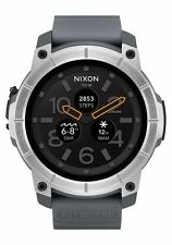 Nixon Mission A1167-2101-00 Black / Gray Rubber Smartwatch Quartz Men's Watch