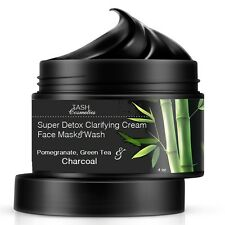 Super Detox Organic Clarifying Cream Face Mask W/ Activated Charcoal Pomegranate