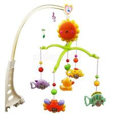 Novel Fish Crab and Duck Baby Crib Mobile Music Bed Bell Educational Toy New