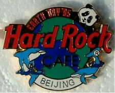 Hard Rock Cafe BEIJING 1995 EARTH DAY PIN Panda on Globe MESH BACK - HRC #1111