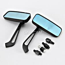Rectangle Black Motorcycle Mirrors For Harley Davidson Screamin Eagle
