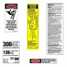 (10 pack) Werner LFS300-100 300 lb. Fiberglass Step Ladder Safety Labels