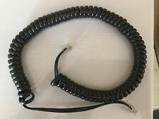 TELEPHONE PHONE CURLY HANDSET LEAD CABLE CORD WIRE RJ10 PLUG dark grey black 2M