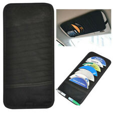 Simple Car Visor Storage CD/DVD  Black Pocket Case Organizer Hold 12 Discs Auto