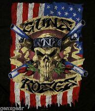 GUNS N' ROSES cd lgo SKULL US FLAG Official SHIRT XXL 2X New oop