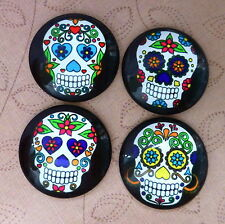 4 pcs 25mm Domed Round Skull cabochon Muerte cabochons S004