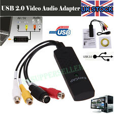 UK USB 2.0 VHS TAPE TO PC DVD CONVERTER VIDEO AUDIO CAPTURE CARD ADAPTER