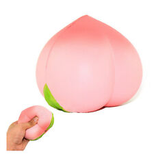 New Colossal 10CM Squishy Pink Peach Slow Rising Cream Scented Plz Watch Video