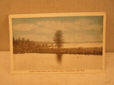 Colunbia city Ind Indiana, Lower 'fish Pond and Round Lake, early postcard