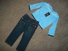 7 FOR ALL MANKIND 2 pc Outfit Long Sleeve Henley Shirt JEANS BOYS 24 Months 24M
