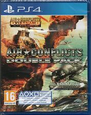 AIR CONFLICTS DOBLE PACK JUEGO - Vietnam & Pacific Fundas PS4 ~ NEW / SEALED