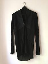 Authentic Rick Owens Sheer Jacket With Leather Trim, Really Rare!