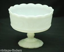 Vintage E. O. Brody Milk Glass Vase Footed Pedestal Base M6000 Cleveland OH USA