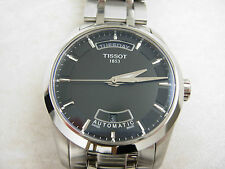 Tissot Men's Couturier Watch T035.407.11.051.00 Automatic Black Dial Day/Date