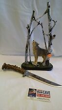 "12"" collectible Wolf Knife and Stand"