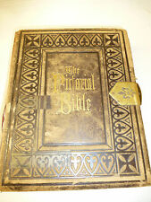 Antique 1872 HOLY BIBLE AJ Holman FAMILY RECORD Richard JONES Jane McClelland