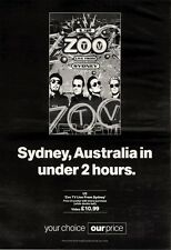 """NEWSPAPER CLIPPING/ADVERT 9/4/94PGN21 15X11"""" U2 : ZOO TV LIVE FROM SYDNEY ALBUM"""