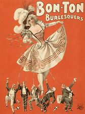 ART PRINT POSTER THEATRE STAGE BON TON BURLESQUE MUSIC NOFL1071