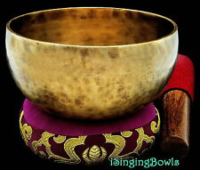 "Tibetan Meditation SINGING BOWL #4: Harmonically-balanced, 5 3/8 - 5 5/8"". VIDEO"