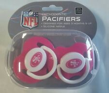 San Francisco 49ers PINK Baby Infant Pacifiers NFL NEW 2 Pack SHOWER GIFT! girls