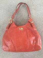 COACH Madison Maggie Hobo Bag - Burnt Orange Leather