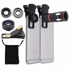 4in1 10X Zoom Telephoto Fish Eye+Wide Angle+Micro Clip Lens For iPhone 6 6S Plus