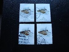 ACORES (portugal) - timbre yvert et tellier n° 382 x4 obl (A28) stamp