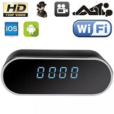 HD 720P Wifi P2P SPY Hidden Clock Camera IR Night Vision Motion Detect Video Cam