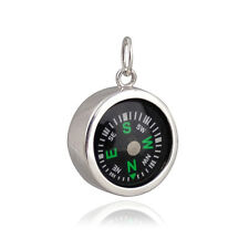 Compass Charm Sterling Silver 925 for Bracelet or Necklace Working Points North
