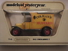 MATCHBOX MODELS OF YESTERYEAR Y-12 1912 FORD MODEL T - COLMAN'S MUSTARD 1/35
